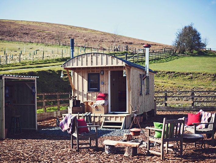 Sugar and loaf shepherds hut in Wales