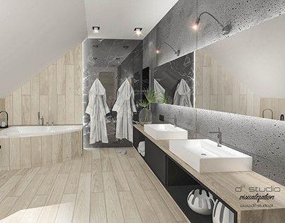 "Check out new work on my @Behance portfolio: ""Modern bathroom on attic/ łazienka na poddaszu"" http://be.net/gallery/51448367/Modern-bathroom-on-attic-lazienka-na-poddaszu"