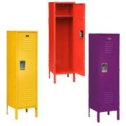 Boys room storage idea? In different colors, of course!
