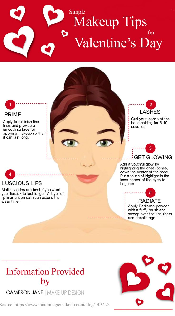 Every girl wants to look beautiful on the valentines day for their someone special. Read this #infographic, To know some simple #makeup tips that could help you to enhance your #beauty.