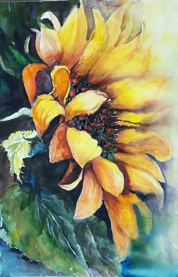 Sunflower -  hope / watercolor painting