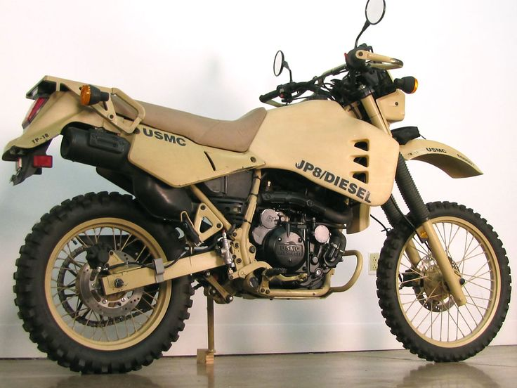 Converted Military Diesel Kawasaki KLR 650 . man this thing is beautiful.