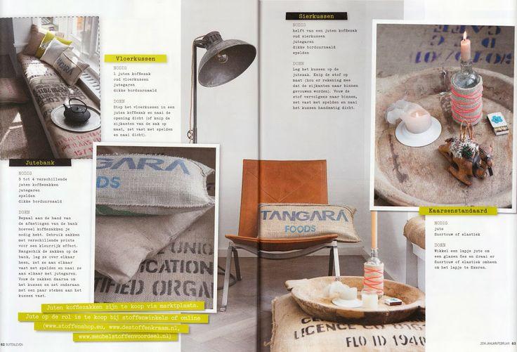 DIY jute, zelfmaak ideeën met jute stof © Rosalie Noordam photo: ©ANOUKDEKLEERMAEKER | www.studio309.nl
