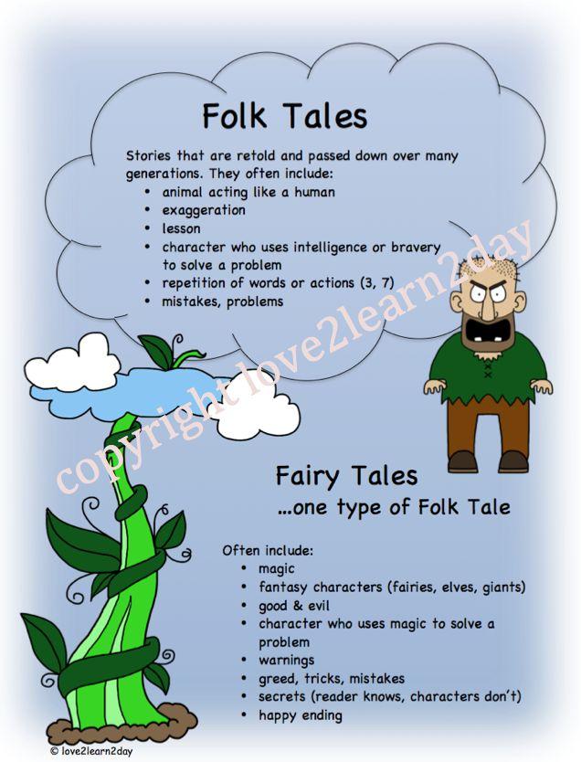 fairy tale folktale characteristics poster pinterest language we and student. Black Bedroom Furniture Sets. Home Design Ideas