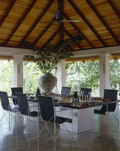 Modern Tropical Dining Room
