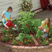 add a garden for kids and teach them to grow pizza gardens and bean pole