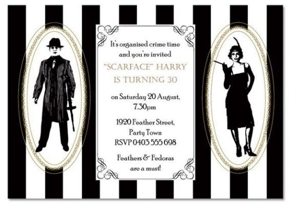 1920s Invitation Wording