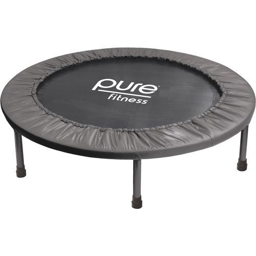 Pure Fitness 38 in Round Mini Rebounder Trampoline Grey - Fitness Accessories, Step Equipment at Academy Sports
