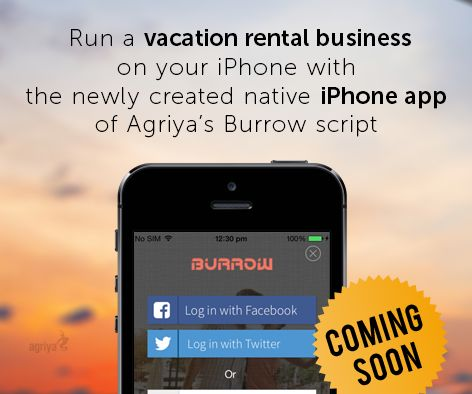 Agriya's highly flexible native iPhone application of Burrow is coming soon. It is especially developed for running a vacation rental business effectively on your iPhone To know more about Burrow: https://www.agriya.com/products/airbnb-clone