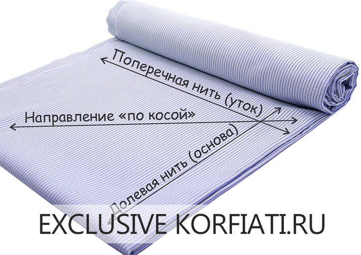 Направление нитей на ткани