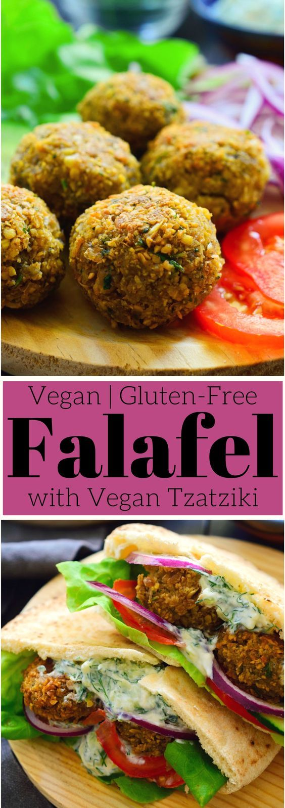 This easy vegan falafel recipe is the most delicious falafel you'll ever have. Crispy on the outside, fluffy on the inside and spiced with the wonderful flavours of cumin and coriander. These falafel are great on top of a big bowl of veggies or stuffed into a pita sandwich with a big dollop of vegan tzatziki on top.