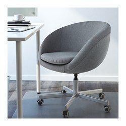 IKEA - SKRUVSTA, Chaise pivotante,  , Vissle gris, , La hauteur de la chaise est réglable et offre un grand confort d