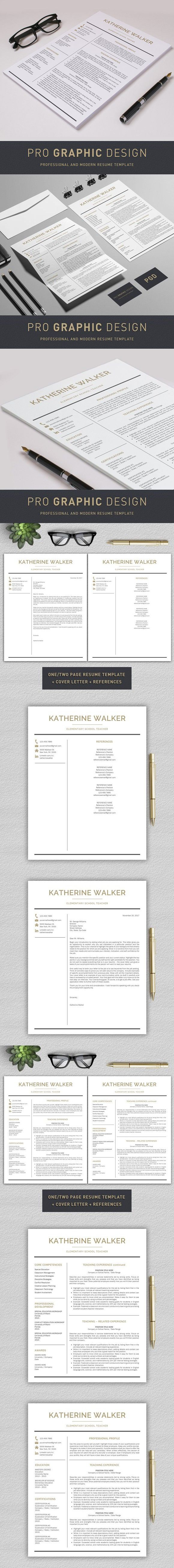 Teacher Resume / CV Teacher. Stationery Templates