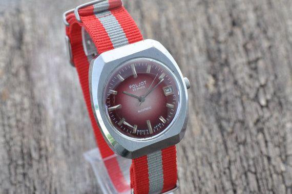 Guarda esclusiva automatico russo Poljot-23jewels, orologio Vintage, Retro dell