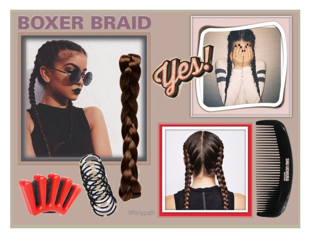 Boxer Braids! by whirlypath on Polyvore featuring beauty, shu uemura, Anya Hindmarch, Hershesons and Jocelyn
