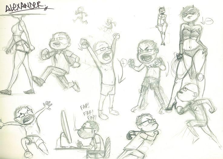 """Alexander Sketches for """"Alexander & Grahovsky""""  alexandergrahovsky.com"""