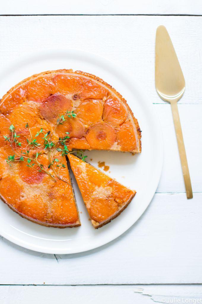 Voor een echt oranje-diner: tarte tatin met abrikozen, karamel en tijm