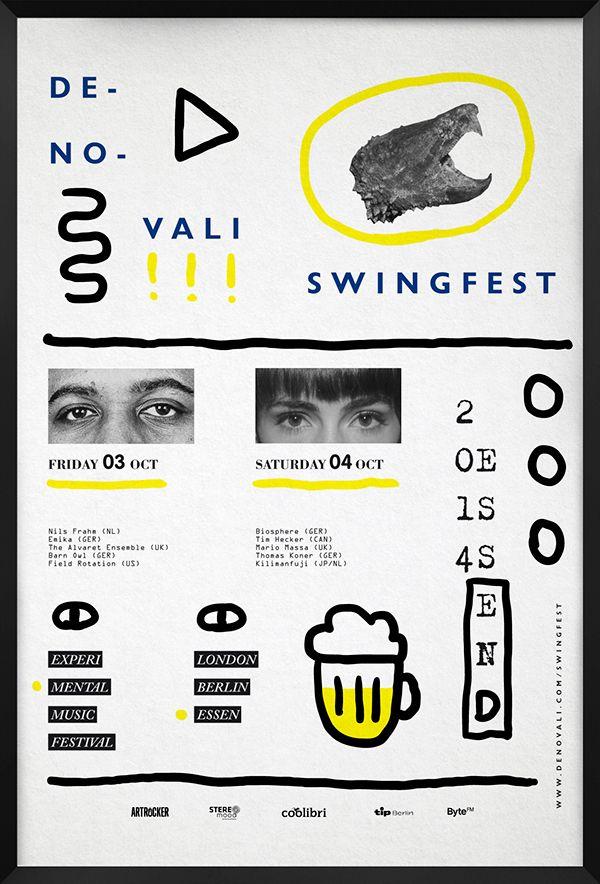 Denovali Swingfest Posters on Behance