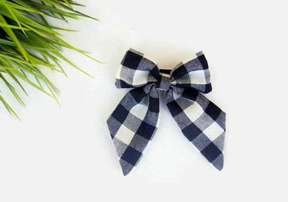 Baby Hair Bows – Hair Bows – Bow for Baby – Baby Bows – Infant Hair Bows – Black Gingham