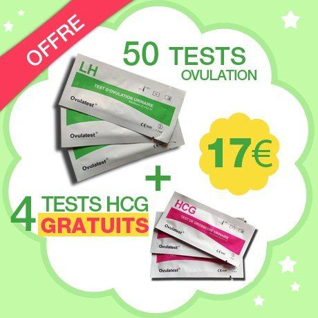 50 tests d'ovulation + 4 tests de grossesse Gratuits: Lot de 50 tests d'ovulation bandelette sensiblité de 25 mUI/ml avec 4 tests de…