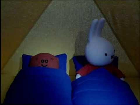 Nijntje - 36 - Nijntje en Knorretje slapen in een tent - YouTube