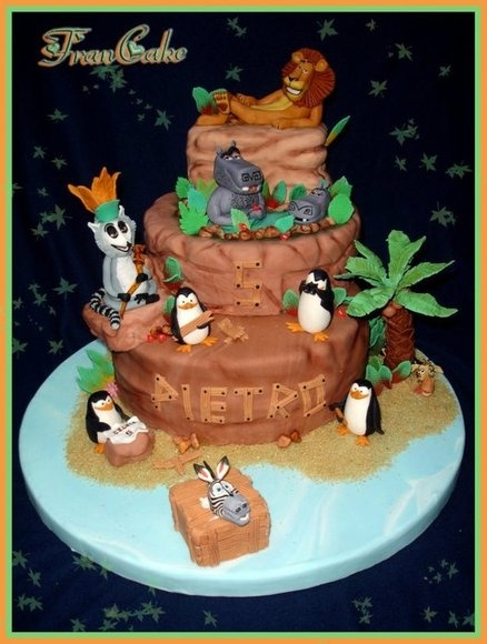 madagascar cake  Cake by francake