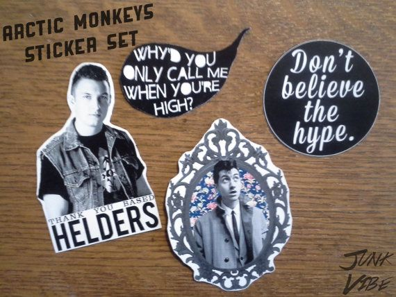 Arctic monkeys sticker set 4 stickers available in our etsy shop sticker