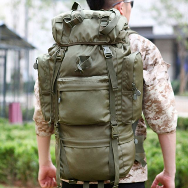 Check it on our site 65L Hiking Camping Bag Outdoor Travel Sport Military Tactical Rucksack Mochilas Militares Super Large Capacity Military Backpack just only $56.05 with free shipping worldwide  #sportsbags Plese click on picture to see our special price for you