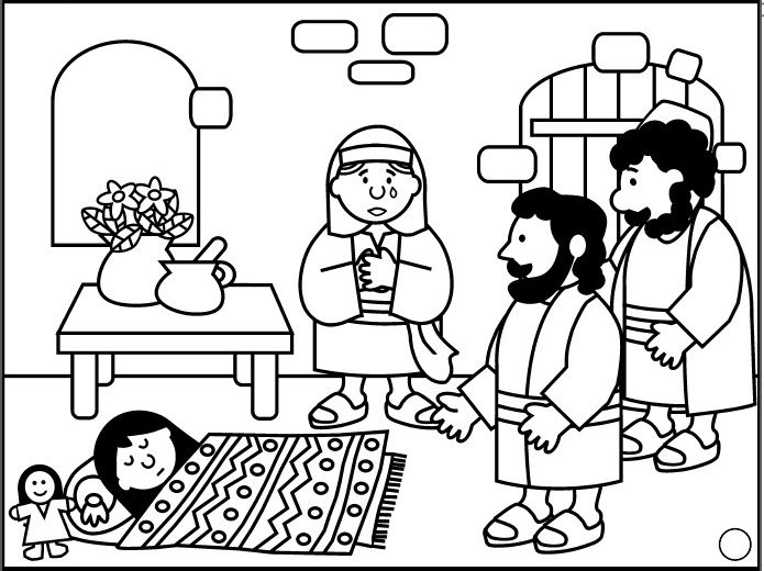 27 best images about nt jezus en jairus 39 dochter jesus and for Jesus heals jairus daughter coloring page