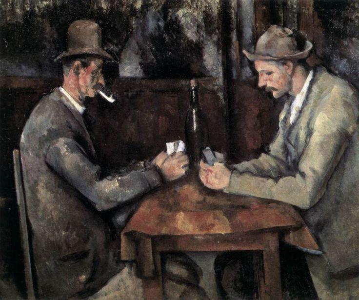 I giocatori di carte, 1890-92, olio su tela, Paul Cézanne. Musée d'Orsay, Parigi, Francia.