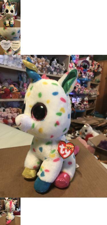 "fc7770513bd Current 1628  Ty Harmonie White W Multi-Color Confetti Fabric Unicorn 10"" Beanie  Boo Buddy! -  BUY IT NOW ONLY   13.99 on  eBay  current  harmonie  white ..."