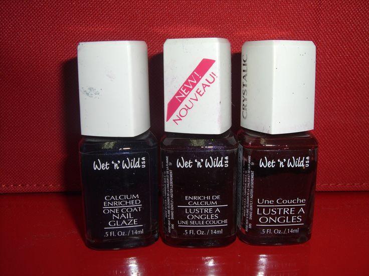 (2) Blackest Purple (3) Blackest Red