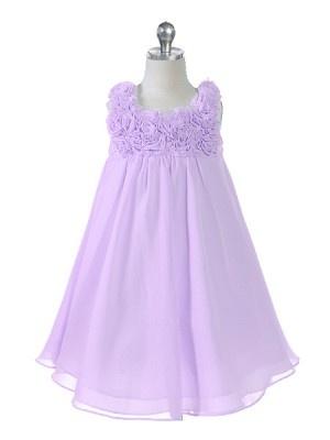 Lilac Yoryu Chiffon Flower Girl Dress $34.99 #flowergirl