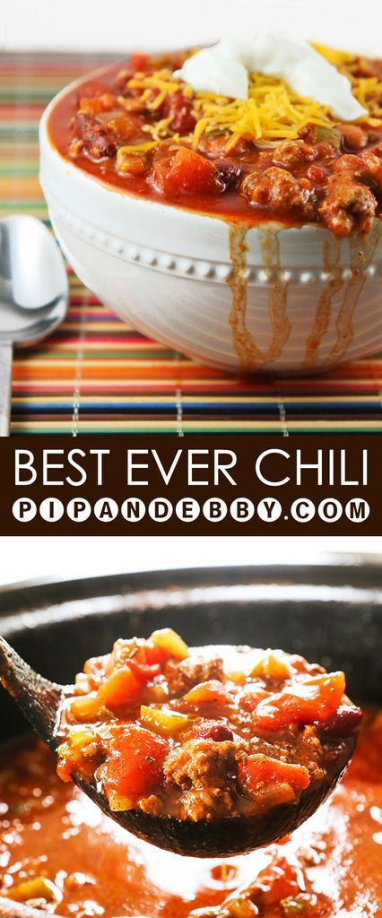 Best EVER Chili | You have just found your new favorite chili recipe! Bring this to your next gathering and you will win everyone over!