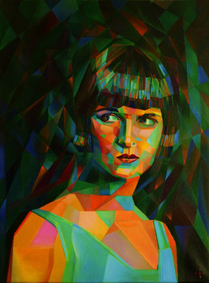 Louise Brooks (2014), oil on linen (60 x 80 cm) Sales info: info@corneakkers.com See more: www.corneakkers.com Instagram: www.instagram.com/corne.akkers/ Pinterest: nl.pinterest.com/corneakkers/ Facebook: www.facebook.com/corne.akkers Follow me at twitter: @Corne_Akkers  #portrait #cubism #kubisme #painting #art #kunst #blue #orange #female #1920s #art deco #celebrity #woman #abstract #abstrakt