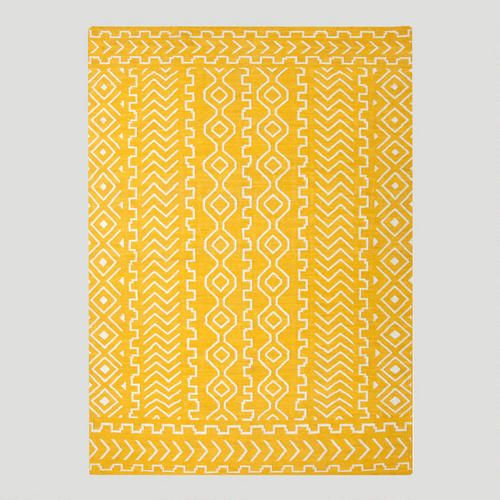One of my favorite discoveries at WorldMarket.com: Yellow Nira Flat-Woven Wool Rug