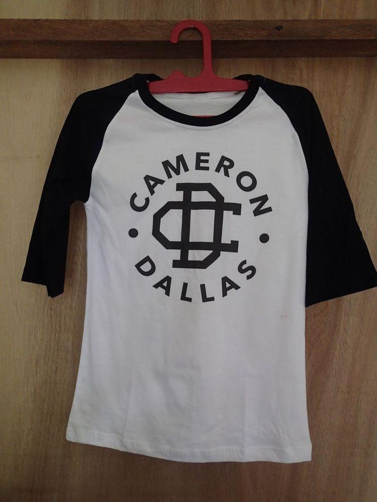 cameron dallas tshirt raglan baseball shirt tshirt clothing unisex magcon o2l #unbranded #raglanbaseball