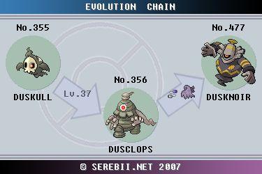 Pokemon Evolution Countering Dusknoir Pokemon