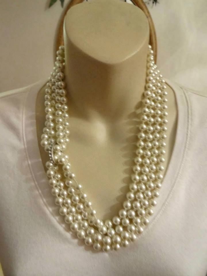 """Opening Night Pearls with the new """"blingy"""" clip it!!  See Fashion Tips Section on my Pinterest Kathyblingblingboucher.mypremierdesigns.com code:  2013"""
