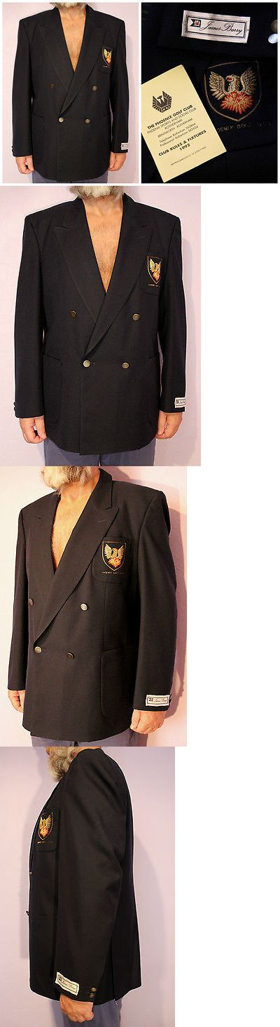 Outerwear Coats and Jackets 175771: Clearance James Barry Bespoke For Phoenix Golf Club Navy Blazer Uk 44 46 -> BUY IT NOW ONLY: $25 on eBay!