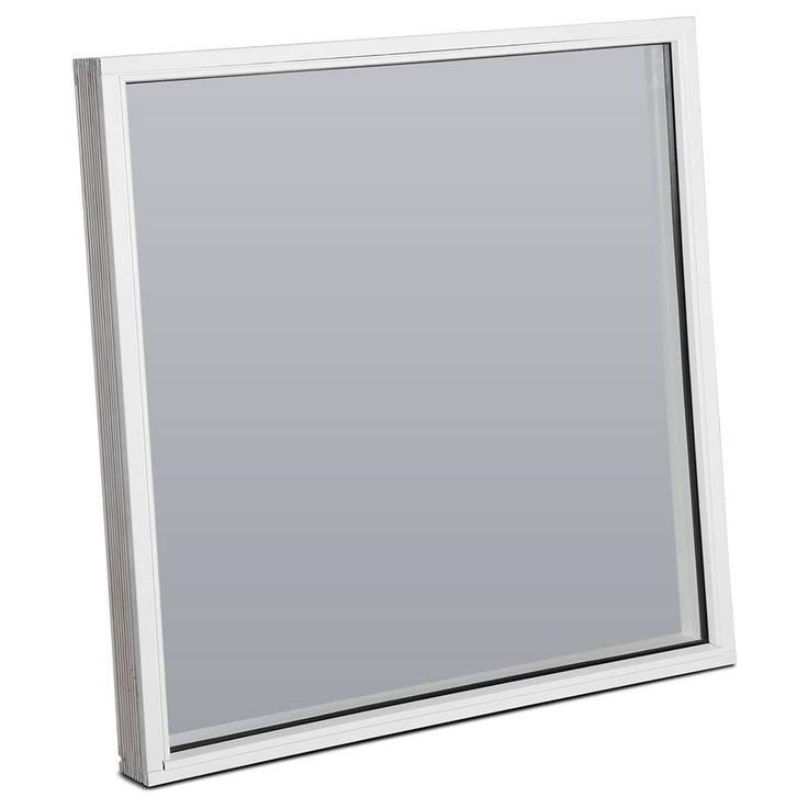 Fastkarm vindue 1 energirude - hvid, fyrretræ, 119x119