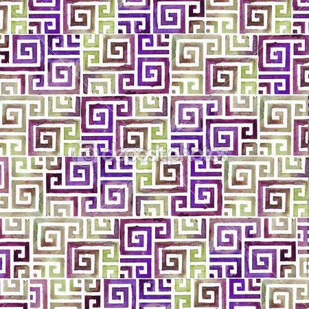 Индийских племен фоновый узор. акварельный фон племенных — стоковое изображение #48217123