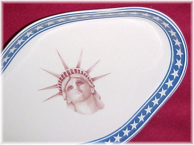 MOTTAHEDEH ~ Merrill Lynch Celebrates The Centennial of The Statue Of Liberty Bon Bon Dish ~ July 4, 1986 ~ Employee Gift - FREE Shipping by FindMeTreasures on Etsy
