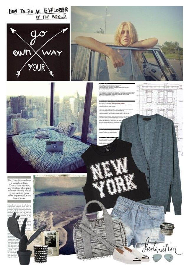 """""""polyvore app"""" by jesuisunlapin ❤ liked on Polyvore featuring Arche, Polaroid, Alexander Wang, Forever 21, H&M, Marimekko, Wandschappen, Miu Miu, Ray-Ban and casual"""