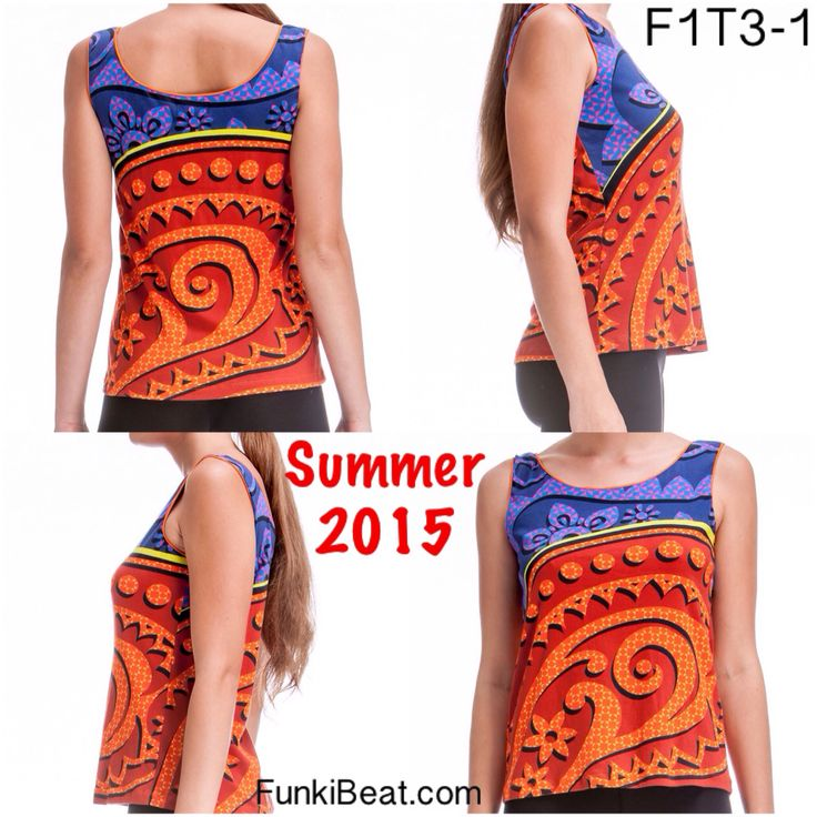 Singlet\Tank Top: Rust Twirl can now be seen at FunkiBeat.com