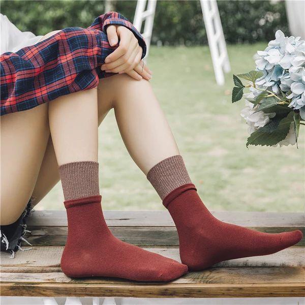 [leggycozy] Harajuku Style Warm Fluffy Cotton Socks