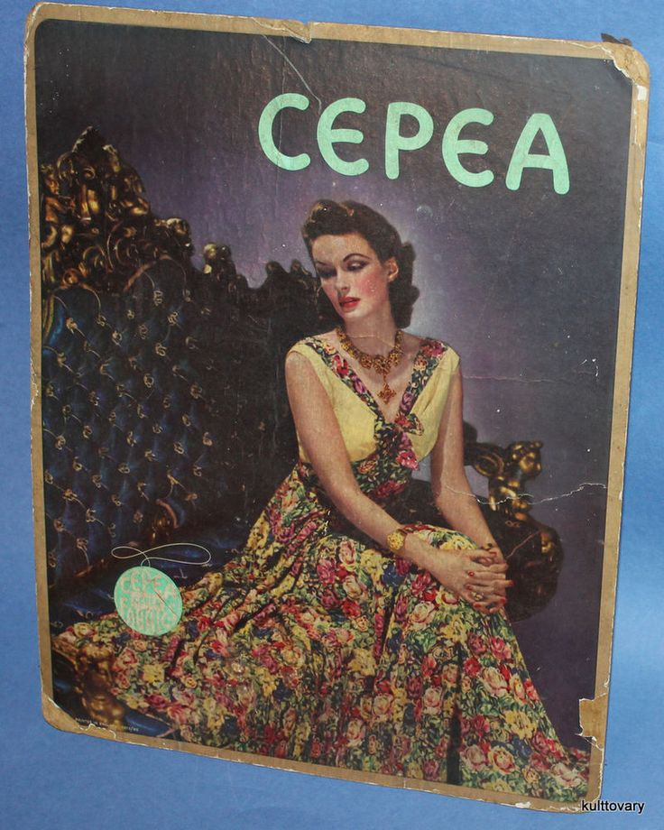50s cepea  fabric manufacture advertising poster england UK cloth ad vintage  #cepea