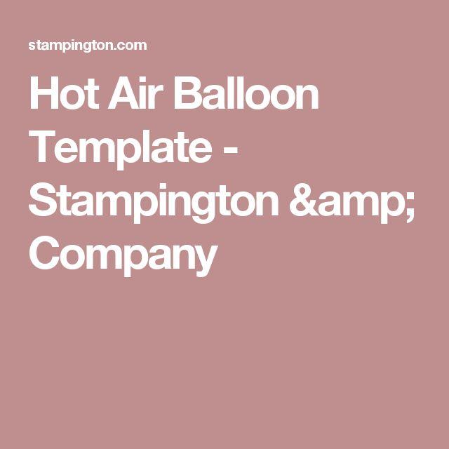 Hot Air Balloon Template - Stampington & Company