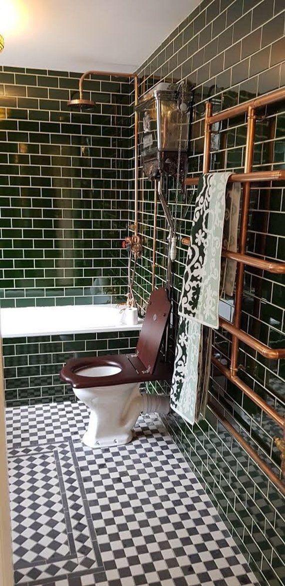 Kupferrohr Dusche und flexibler Schlauch Kupferrohr