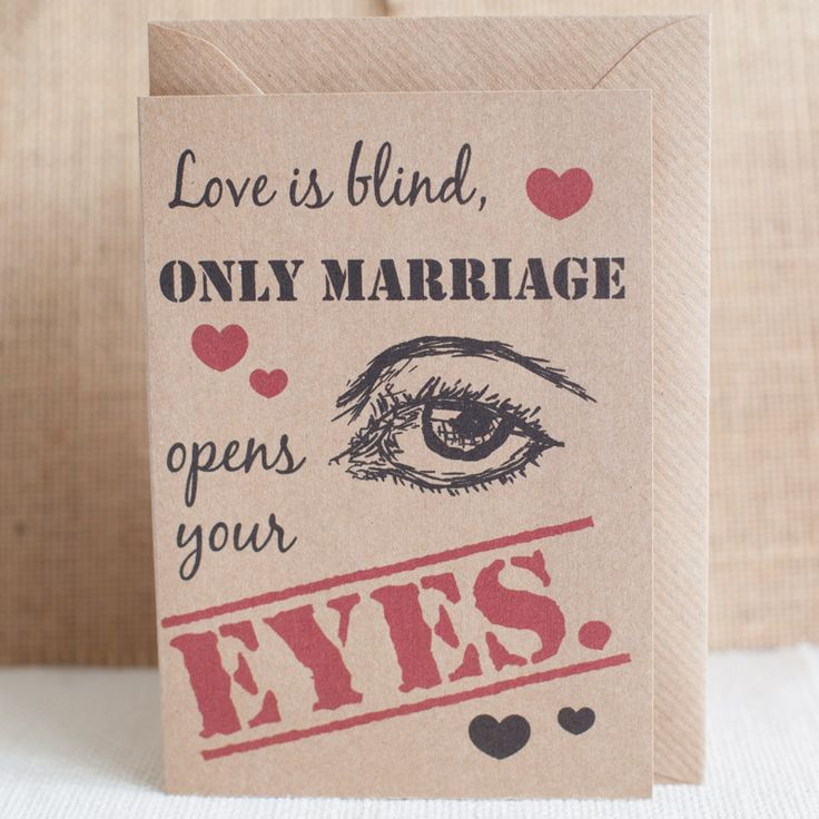 Love Is Blind funny card with Envelope